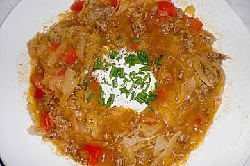 Leichte Sauerkrautsuppe ungarische Art