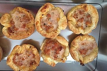 Herzhafte Blätterteig - Gehacktes - Muffins