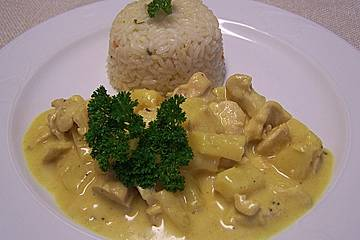 ananas curry geschnetzeltes