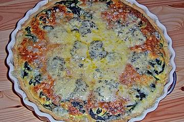 Vier - Käse - Quiche mit Spinat