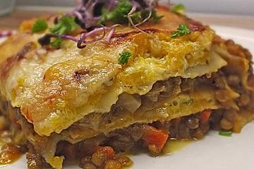 Linsen - Kürbis - Lasagne