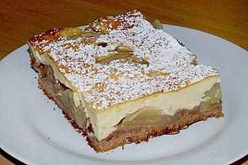Apfelkuchen mit Mascarpone - Guss