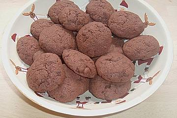 Weihnachtsplätzchen Schokoladenplätzchen.Schokoladenplätzchen