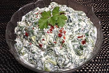 Borani - Spinatjoghurt