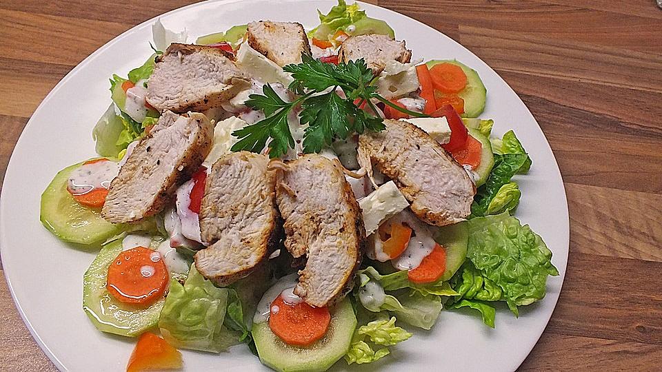 Bunter Salat mit Putenstreifen von CookingJulie   Chefkoch