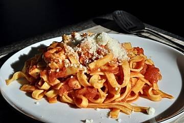 Garnelen - Rucola - Spaghetti