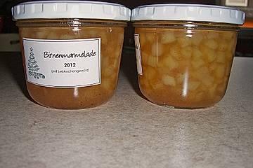 Birnen - Lebkuchen - Marmelade