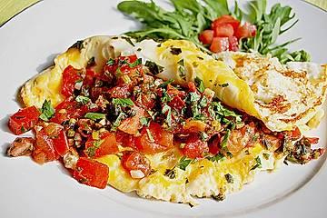 Leichtes Tomaten - Omelette