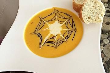 Kürbissuppe mit Kürbiskernöl