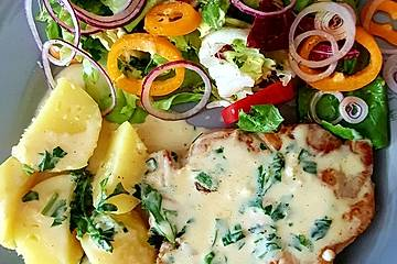 Koteletts in Knoblauchsauce