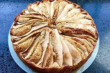 Birnenkuchen mit Zitrone und Ingwer