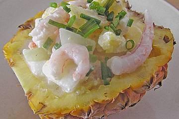 Shrimpscocktail mit Ingwersoße