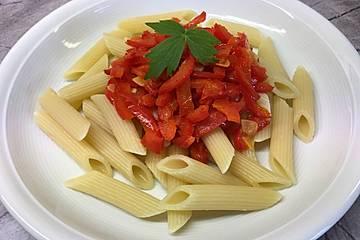 Rigatoni mit Paprika