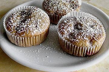 Kirschmuffins mit Haferflocken