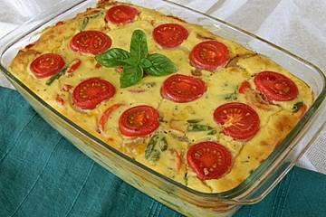 Polenta-Gemüseauflauf