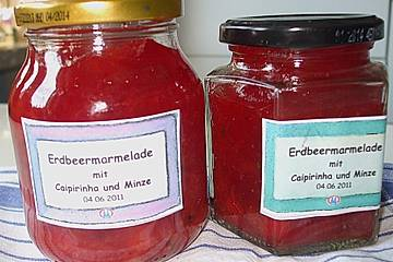 Erdbeer - Caipirina - Marmelade mit Minze