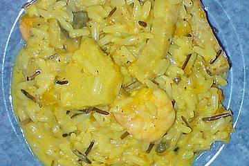 Fruchtiger Curry - Reissalat