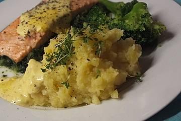 Kartoffel - Pastinaken - Püree mit Trüffelöl