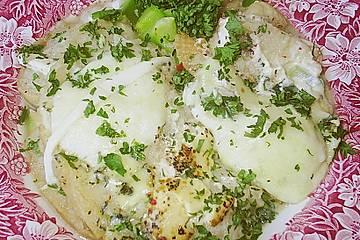 Brotsuppe mit Mozzarella
