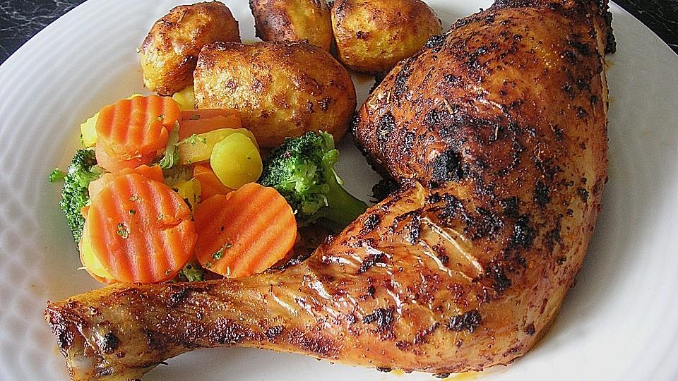Knusprige Hähnchenkeulen aus dem Ofen von mareikaeferchen   Chefkoch