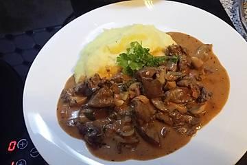 Geflügelleber - Pilz - Ragout