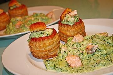 Lachs - Brokkoli - Pastetchen