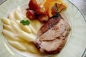 Putenschlegel mit Orangen - Rosmarin - Balsamico - Sauce