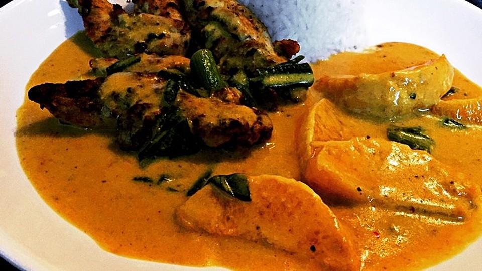 Hähnchen in Kokos Curry Soße von Katie | Chefkoch