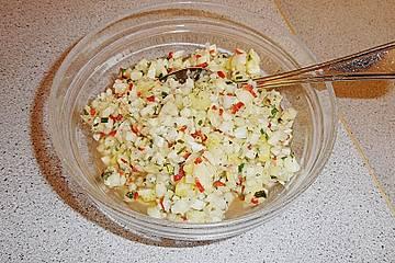 Fischfilet mit Ananas - Salsa