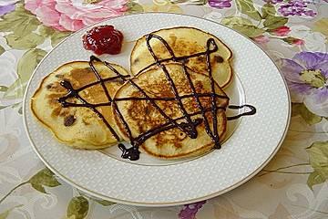 Pancakes mit  Schokoladenstückchen