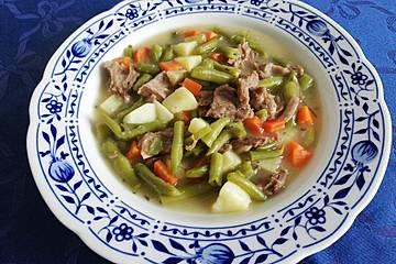 Grüne Bohnen - Suppe