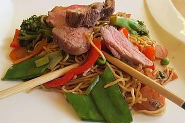 Entenbrust mit asiatischem Gemüse