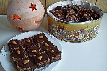 Schnelles Weihnachtsgebäck Rezepte.Schokolade Mandel Schnitten
