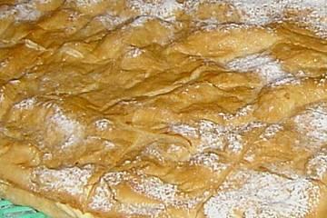 Bergkuchen  mit Vanillecreme