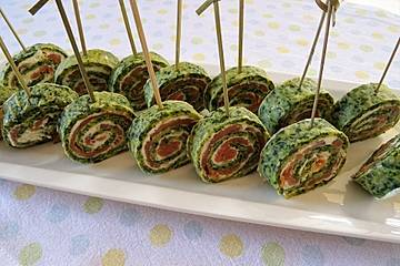 Lachs - Spinat - Roulade