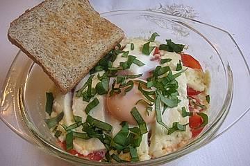 Schafskäse mit Tomate überbacken