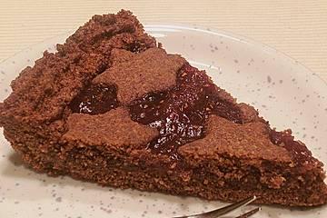 Linzer Torte mit Schokoschraps