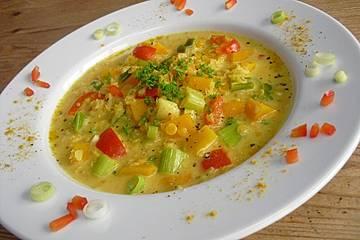 Kürbis-Kokos-Suppe mit roten Linsen
