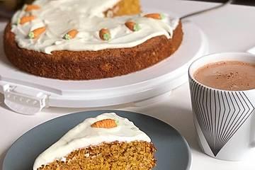 Saftiger Karottenkuchen ohne Margarine o. ä.