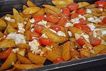 Gratinierte Potato Wedges