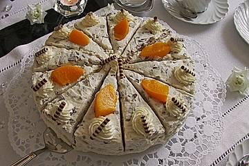 Pudding - Pfirsichtorte mit Knusperboden