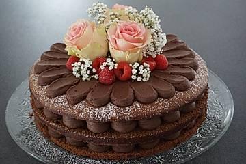 Schokoladen - Himbeertorte