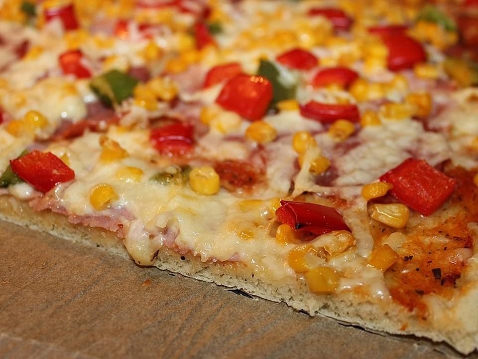 Pizzateig für 2 bleche
