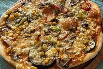 Pizzateig für ein Blech