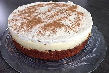 Fanta - Schmand - Kuchen mit Pudding und Mandarinchen