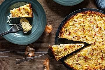 Zwiebelkuchen ohne Boden - einfach und lecker