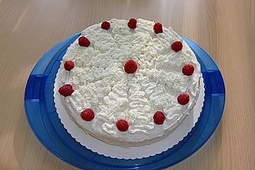 Weiße Vanille - Quark - Torte