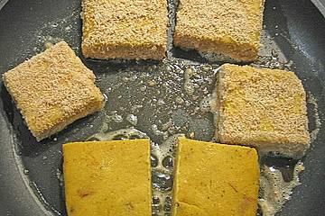 Polentaplätzchen mit getrockneten Steinpilzen