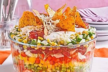 Tacosalat für Vegetarier