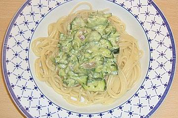 Zucchinisoße zu Pasta